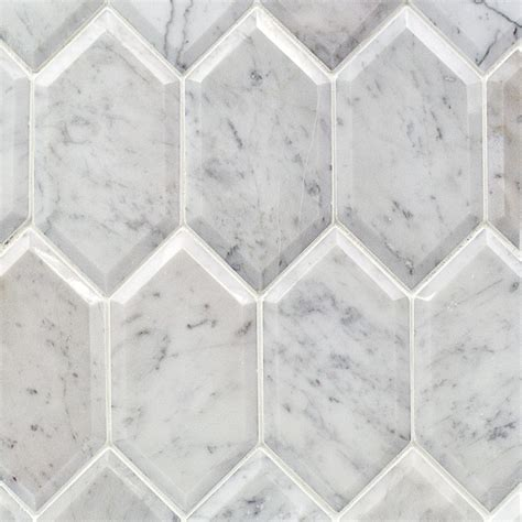 Carrara Marble Tile Hexagon by Shop For Beveled White Carrara Hexagon Polished Marble