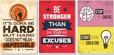 motivational posters  office  study room set
