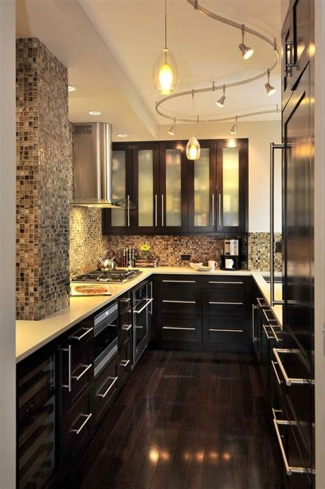 ideas  kitchen track lighting  pinterest