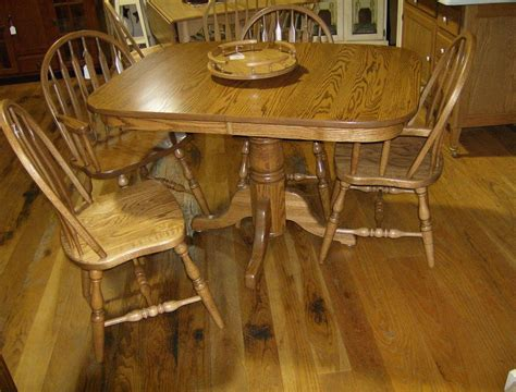 amish dining table with self storing leaves jake 39 s amish furniture single c pedestal table 36 quot x 48