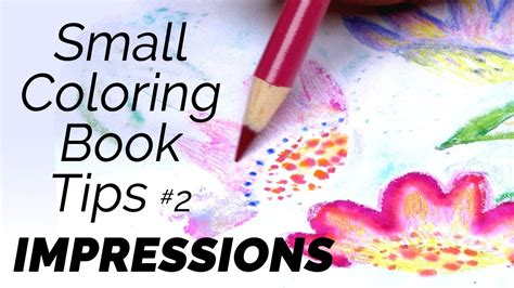 Small Coloring Book Tips