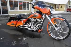Black and Orange Harley-Davidson Street Glide