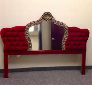 vintage tufted velvet upholstered headboard king size