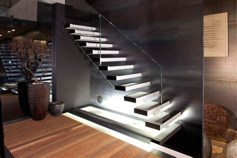 Kitchen Lights Ideas - floating staircase allarchitecturedesigns