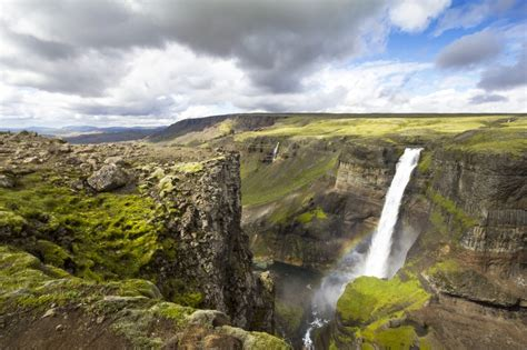 Háifoss Waterfall Iceland Jigsaw Puzzle In Waterfalls