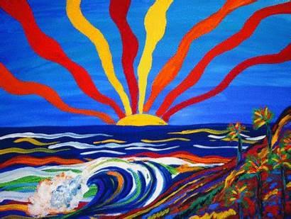 Beach Sunrise Lsd Trippy Psychedelic Sun Acid