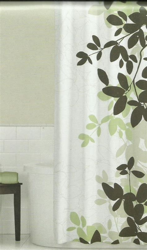 Green And Brown Shower Curtains by Zen Floral Green Brown Ivory Quality Luxury