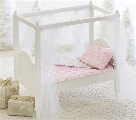 doll canopy bed bedding pottery barn kids