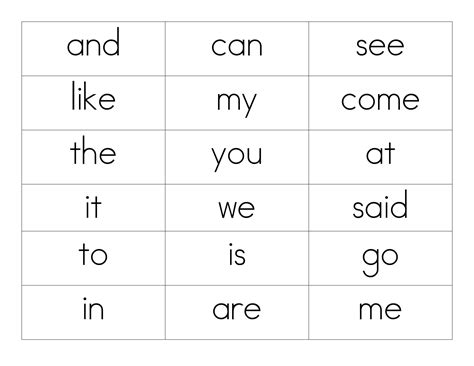 9 Best Images Of Sight Words Printable Matching Game  Sight Word Matching Worksheets, Sight