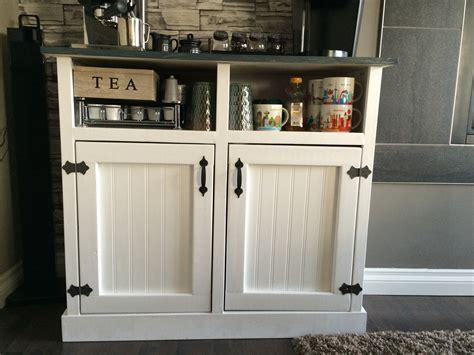 Ana White   Shanty Open Shelf Coffee Station   DIY Projects