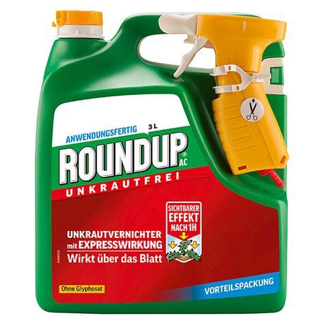 rasendünger mit unkrautvernichter roundup unkrautvernichter ac glyphosatfrei 3 l 7521 herbizide iahd pflanzenschutz