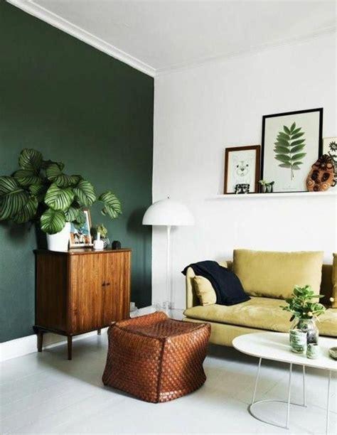 une idee peinture salon  esprit naturel mur en vert