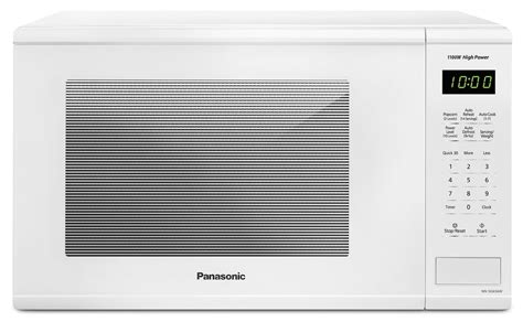 Microwave ovens should not be built into a unit directly above a top front venting conventional cooker. Panasonic White Countertop Microwave (1.3 Cu. Ft.) - NNSG656W   Leon's