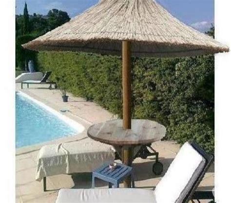 paillote parasol en roseau de camargue mauguio 34130