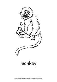 monkey printables