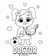 Coloring Doctor Printable Printables Children sketch template