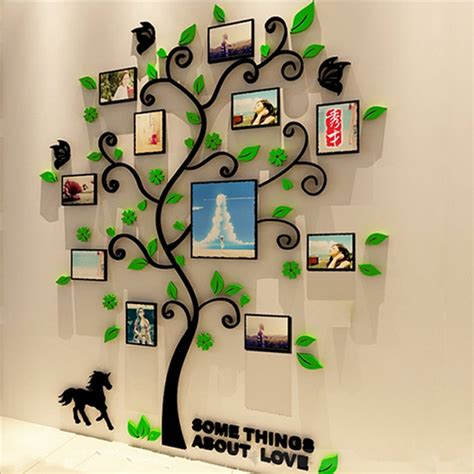 size colorful picture frame tree  acrylic decoration