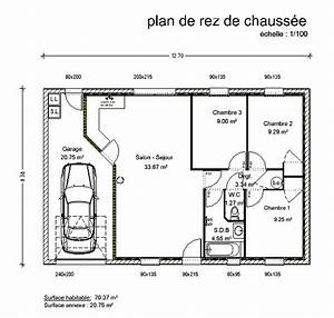 good plan maison plain pied 120m2 4 chambres with plan With plan maison plain pied 3 chambres rectangulaire