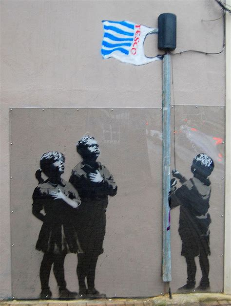 Banksy Rat Stencil Art