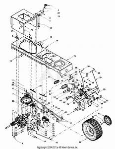 Mtd 13at604g401  1999  Parts Diagram For Frame  Wheels