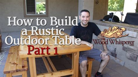build  rustic outdoor table part