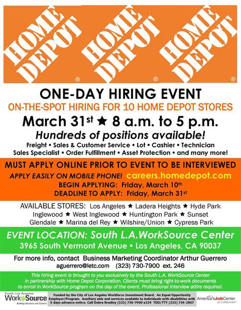 Home Depot Now Hiring by Lacoe Gain South On Quot Homedepot Hiring Event