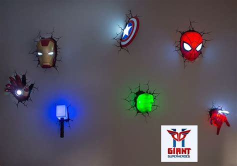 Super Cool Avengers D Wall Deco Night Lights!