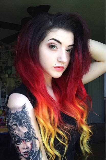 Fire Looking Hairstyle For Long Dark Haired Girls