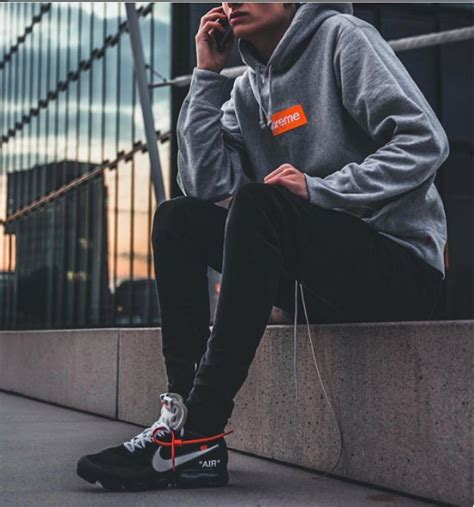 OFF-WHITE X NIKE AIR VAPORMAX BLACK | Fashion | Pinterest | Black Hypebeast and Man style