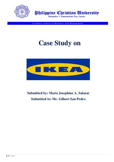 study marketing marketing study ikea