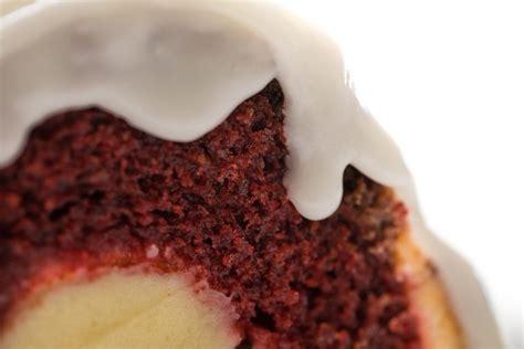 red velvet bundt cake  cream cheese center