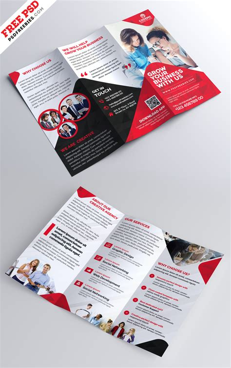 Trifold Brochure Template Free Psd Uxfree Business Tri Fold Brochure Template Design Psd Uxfree