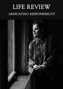 Abdicating, Responsibility