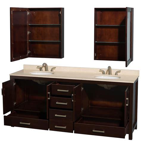 80 inch double sink bathroom vanity sheffield 80 inch double sink bathroom vanity espresso