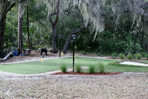 Florida Backyard Putting Green Do It Yourself (diy) Project