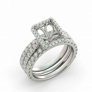 radiant halo semi mount wedding set 2 band round diamond With what kind of wedding band goes with a halo ring