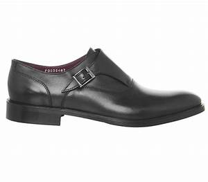 Poste Inglese Single Strap Monk Shoes Black Leather