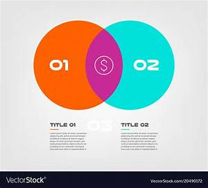 Venn Diagram Infographics For Two Circle Design Vector Image