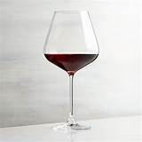 Why not substitute iceberg for arugula? Hip Red Wine Glass | Crate and Barrel