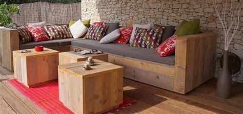 canapé d angle palette mobilier en palette de bois