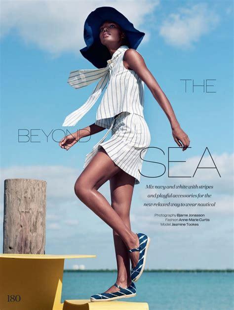 High Seas Style: Jasmine Tookes Gets Nautical for ELLE UK ...