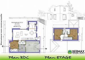 plan maison etage With plan maison demi etage 3 plan de maison contemporaine exemple de maison moderne