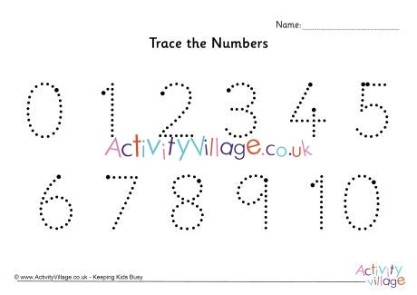 trace  numbers    dotted