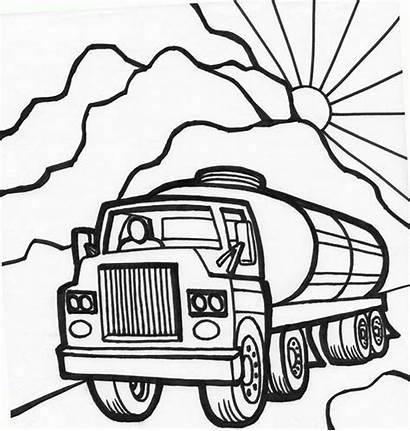 Coloring Pages Truck Tanker Peterbilt Semi Oil