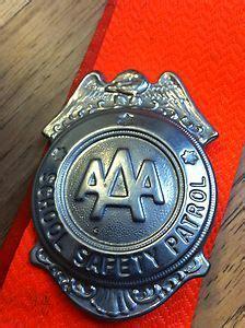 details aaa school safety patrol badge sash belt vintage