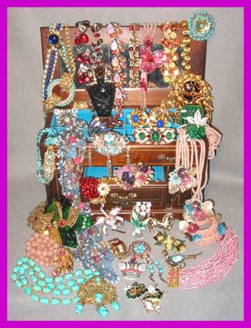 The Glitter Box Links to Vintage Designer Costume Jewelry