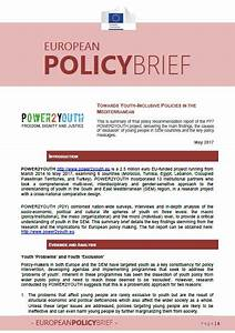 Policy Brief n.2: Towards Youth-Inclusive Policies in the ...