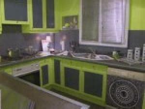 cuisine verte et grise deco cuisine vert anis et gris par photosdecoration
