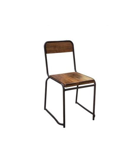 chaise industrielle bois et m 233 tal style vintage