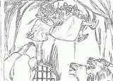 Daniel Coloring Den Lions Lion Colorear Dibujos Leones Bible Popular Truck sketch template